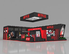 Exhibition Stall 15x10m Height 400 cm 3 Side Open 3D