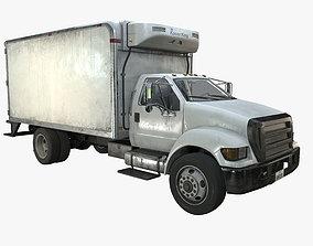 Refrigerator Truck Game Ready PBR Textures 3D model