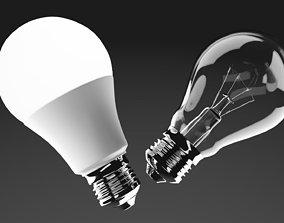 3D model game-ready Light Bulbs