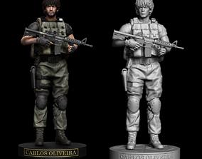 Carlos Oliveira Resident Evil 3 Statue 3D printable model