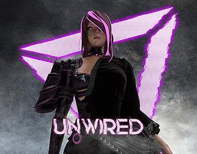 3D model Evelynn V1 - Gameready Cyberpunk Character