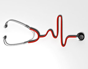 Stethoscope 3D asset