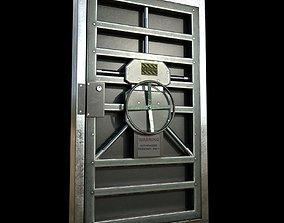 sci-fi Metal door 3D model