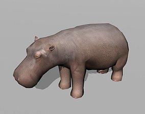 3D asset hippopotamus