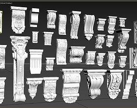 Decorative Corbels - Eaves Collection Gaudi 36 3D model 1
