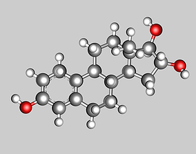 3D model Estriol molecule