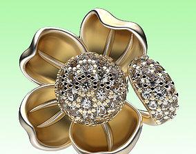 Earrings Water Lily 3D print model