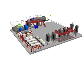 oil factory plan 3D
