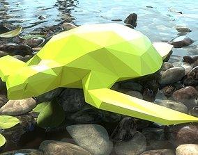3D print model low poly turtle
