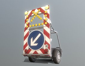 Moveable Barrier Big Version 3D asset
