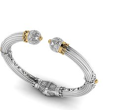 Bracelet with patterns antique bracelet 3D print