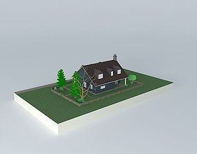 House with porch 3D model
