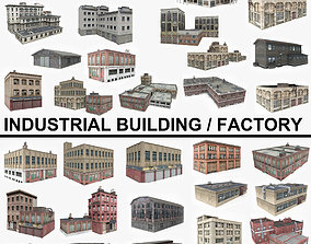 3D asset 30 Industrial Building Factory Collection