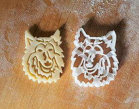 3D printable model Collie dog cookie cutter version 2