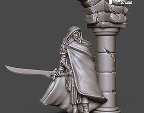Elf Rogue - 35mm scale 3D print model