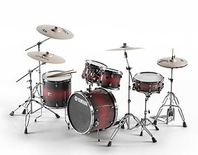 Acoustic Drum Sets 3D model