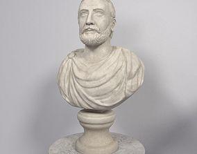 male 3D Man Bust - Statue