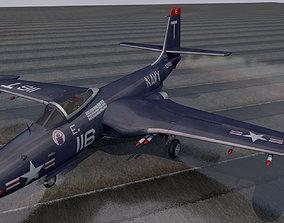3D model McDonnell F2H-2 Banshee