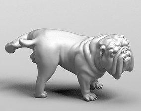 Pissing english bulldog 3D print model