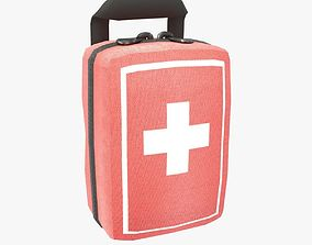 First Aid Kit 3D asset low-poly