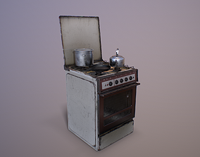3D model Old Soviet Russia Cooker