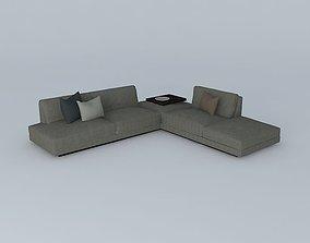 3D model Office Soft Sofa