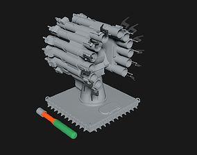 Russian Anti Submarine Launcher RBU-6000 Zapad 3D