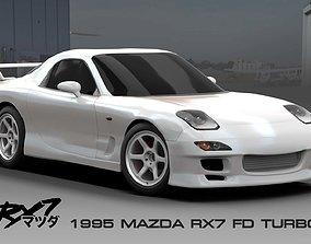 Mazda RX7 FD Turbo 1995 JDM 3D model