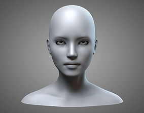 Female Head 1 3D model