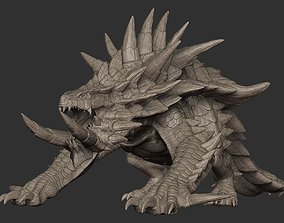 3D model Akantor from Monster Hunter Zbrush Highpoly