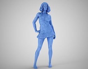 Woman in Sequin Dress 3D print model