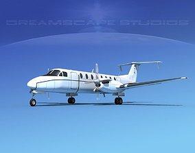 Beechcraft C-12J Huron V04 USAF 3D model