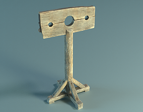 3D model low-poly Pillory PBR