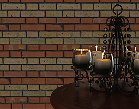 animated 3D Candle Chandelier