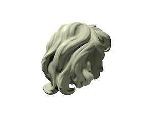 3D print model curly hair