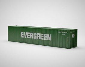 Cargo Container - EVERGREEN - Contenedor de carga 3D model