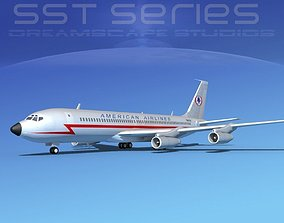 3D model Boeing 707-320 SS American Airlines