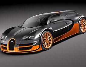 super Bugatti Veyron Super Sport 2012 3D Model