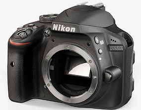 3D asset Nikon D3300 Body DSLR camera
