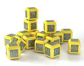 Social network cubes 3D asset