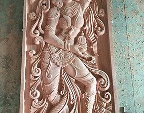Lord Vishnu as Mohini with Amrit 3D printable model 2