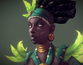 3D model Low Poly Voodoo Priestess