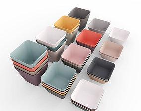 Colorful Bowl Set - LOW POLY 3D asset