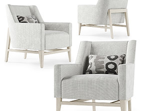 Trestle lounge chair furnishing 3D