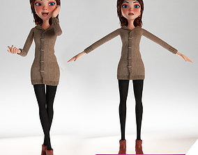 3D model Cartoon Girl Rigged
