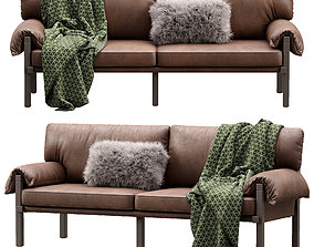 3D model Lita Leather Sofa by Urban Outfitters