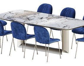 3D Dragon Keramik Table Tina Chair by Cattelan Italia