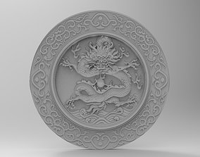 dragon panno bas relief 3D print model