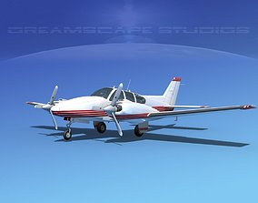 3D model Beechcraft B55 Baron V16