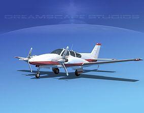 3D model Beechcraft B55 Baron V16